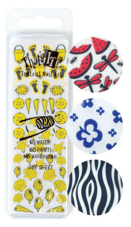 """<p class=""""sidebar-WhitneyBASICTEXT"""">EZ Nails&rsquo; That&rsquo;s It Instant Nail Art collection features rub-off detail decals that can be sealed onto the nail bed with gels and acrylics. Nail techs can use the product as a way to explore their artistic side, layering unlikely combos such as plaid patterns and daisies. <a href=""""http://www.eznails.com"""">www.eznails.com</a></p> <p class=""""sidebar-WhitneyBASICTEXT"""">&nbsp;</p>"""