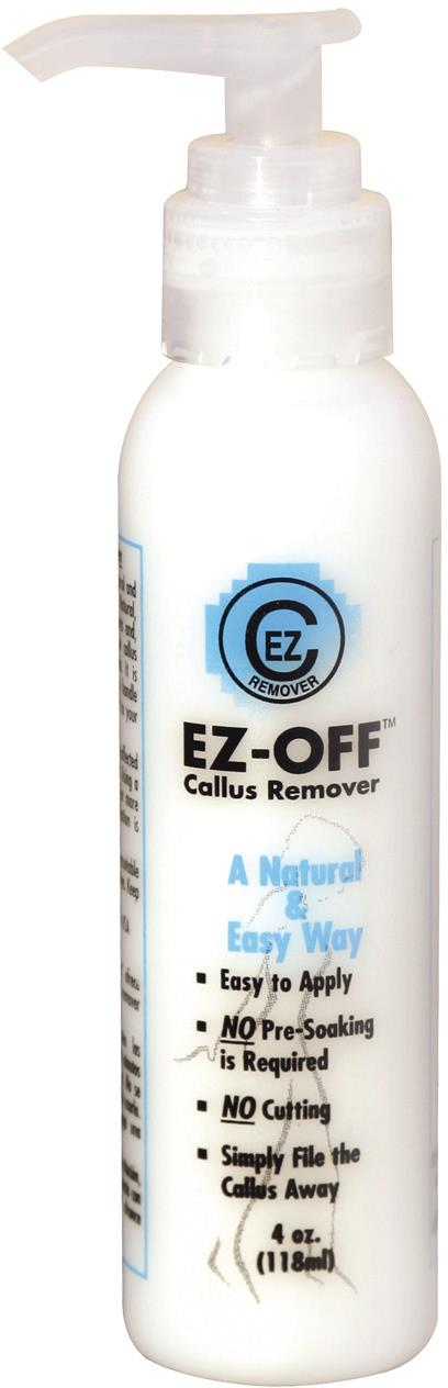 <p><strong>Estelina's Spa Products:&nbsp;</strong>EZ-Off Callus Remover</p>