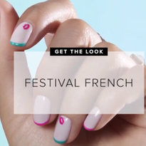 Colorful Festival French Nail Art Tutorial