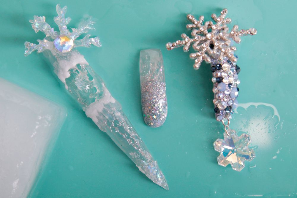 <p>From left to right: nails by Yuleni Gonzalez and Brittany DeShields.&nbsp;</p>