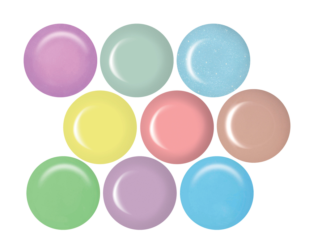 <p>Splash nails in punchy pastels from IBD Just Gel. Spring-inspired shade names combined with a semi-bright and pastel color palette are sure to complement spring fashions.&nbsp;</p>