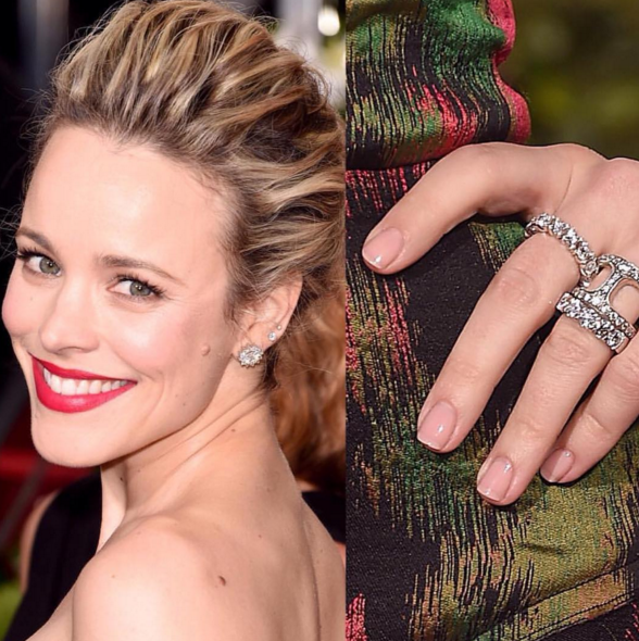 <p>Up-close look at McAdams' Essie manicure by Jolene Brodeur.</p>
