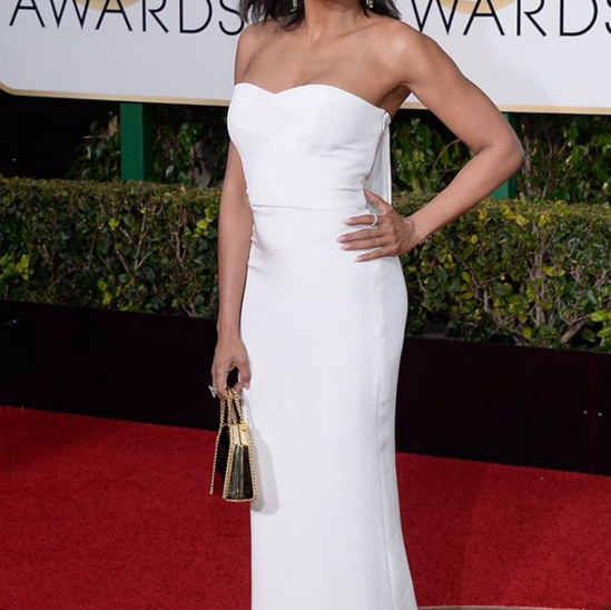 <p>Michelle Saunders dressed Golden Globe winner Taraji P. Henson&rsquo;s nails with Essie&rsquo;s Mademoiselle and Ballet Slippers.</p>