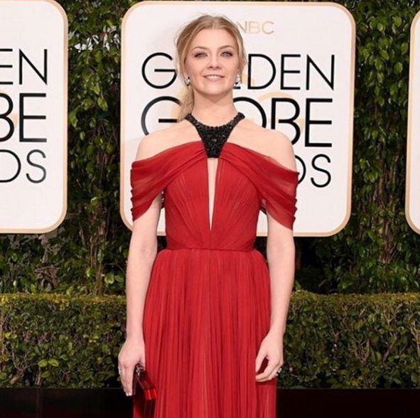 <p>Nominee Natalie Dormer wore a nude set in Caption Polish Rough Though &amp; in the Buff.</p>