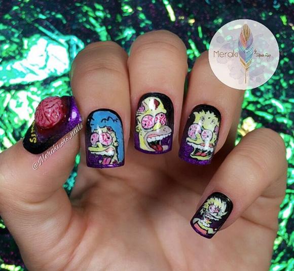 "<p>Week 8 (Scream Queens)</p> <p>Stephie Ruiz <a href=""https://www.instagram.com/meraki_srs_nails/"">@meraki_srs_nails</a></p>"