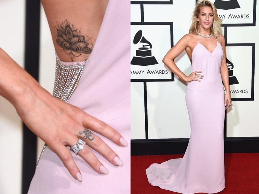 "<p>Celeb manicurist Deborah Lippmann polished Ellie Golding with an opaque blush lacquer in Love Me Tender&nbsp;for the Grammys.</p> <p>Image via <a href=""https://www.instagram.com/deborahlippmann/"" target=""_blank"">@deborahlippmann</a></p>"