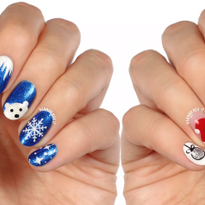 Two Winter and Christmas Nail Art Designs