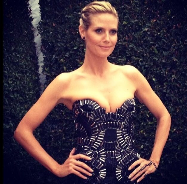 <p>Heidi Klum also opted for a nude nail from Tom Bachik for the Oscars. Image via @tombachik.</p>