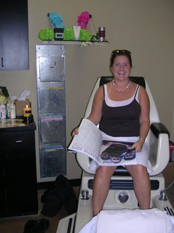 <p>Getting pedicures on the job sure is fun!</p>