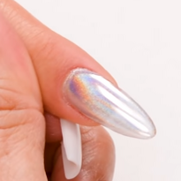 Almond Shaped Holo Chrome Nail Tutorial