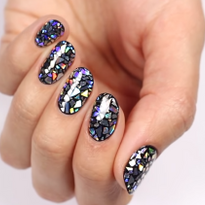 Holographic Shattered Glass Nail Art Tutorial