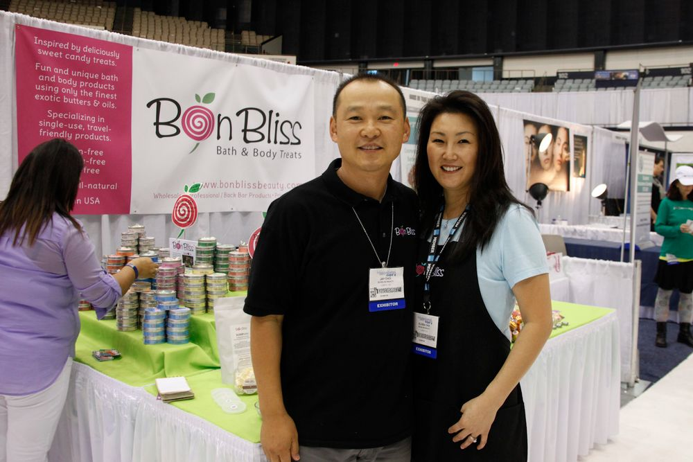 <p>Bon Bliss husband and wife team of Jay and Elissa Choi had a booth for the first time to promote their candy-wrapped line of Scoopables and body scrub cubes in 14 fragrances.</p>