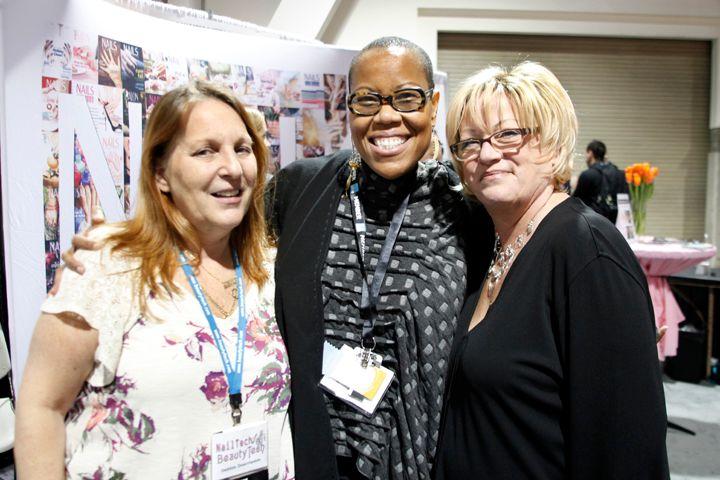 <p>Nail industry veterans Debbie Doerlamm, Maisie Dunbar, and Vicki Peters</p>