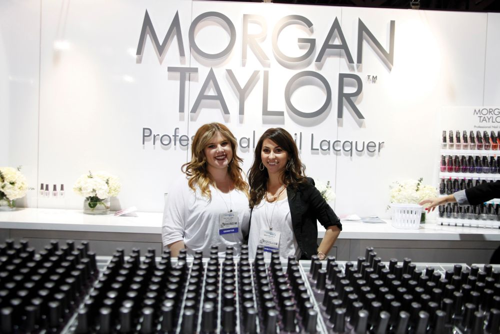 """<p>Taylor Daniel and Morgan Haile, daughters of Hand &amp; Nail Harmony executive VP David Daniel and CEO Danny Haile, helped preview the first 64 colors of the company&rsquo;s new <a href=""""http://www.nailsmag.com/video/96253/isse-2013-morgan-taylor-nail-lacquer"""">Morgan Taylor line of professional nail lacquer</a> set to officially launch in May.</p>"""