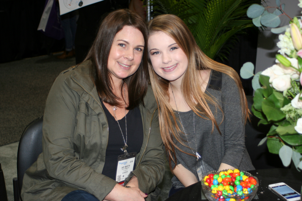 <p>NAILS Magazine's Amy Martin with her daughter, Taylor</p>