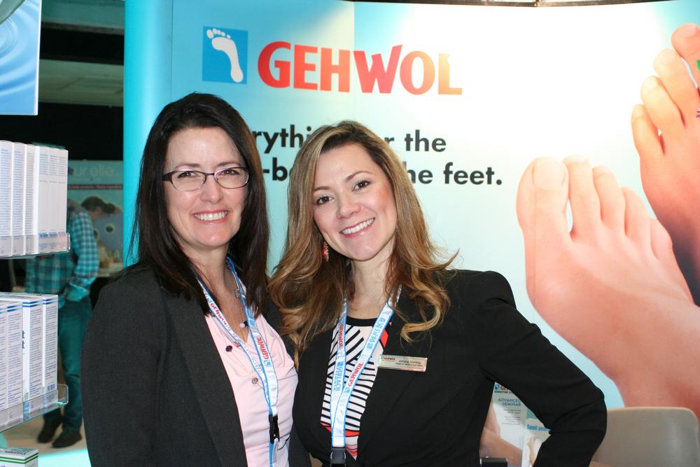 <p>Gehwol's Shelley Kessler, director of education and development, and Johana Sterling</p>