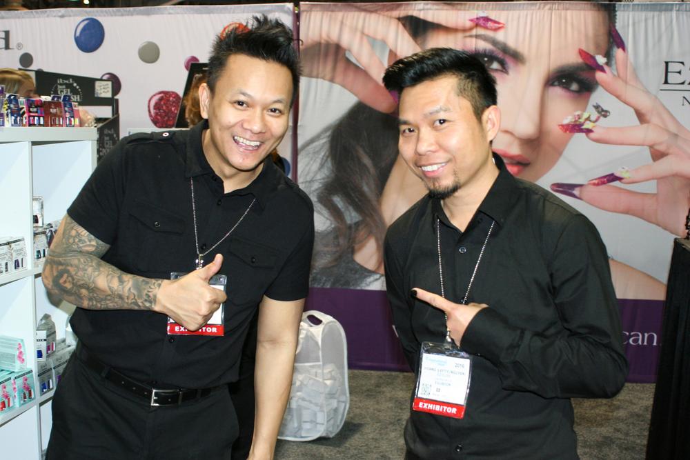 """<p>AiiBeauty's Tan """"The Man"""" Nguyen and Hoang """"Lefty"""" Nguyen</p>"""