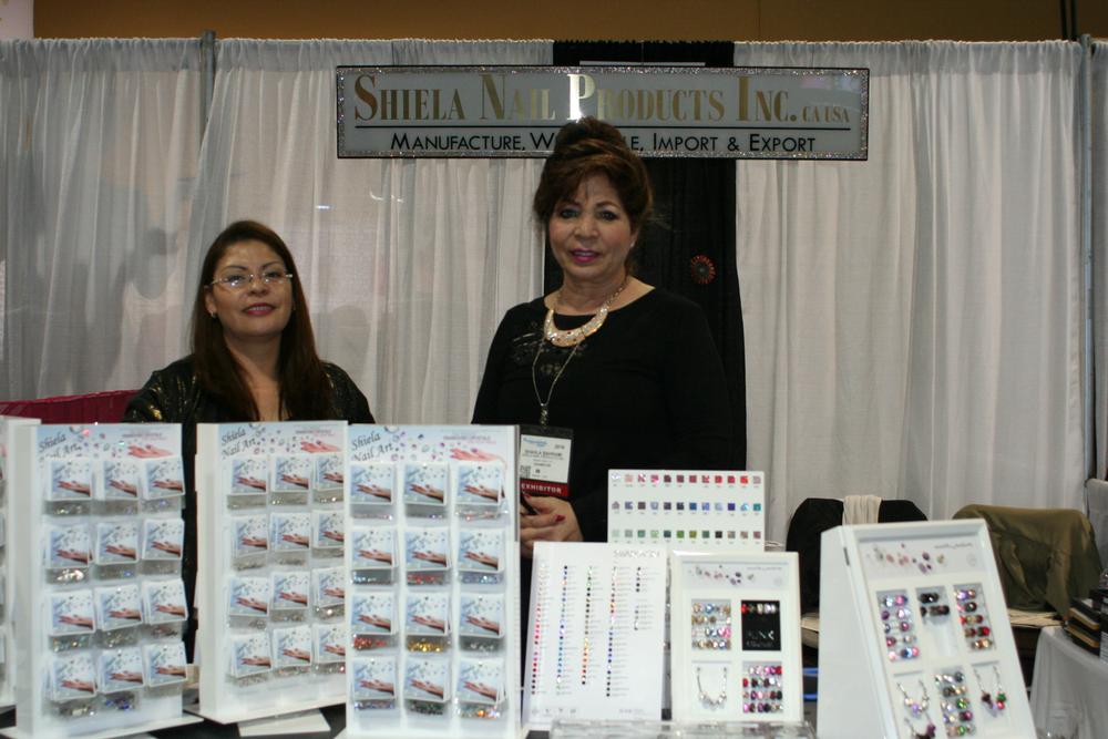 <p>Shiela Nail Products' Sonia Jimenez and Shahla Bahrami</p>