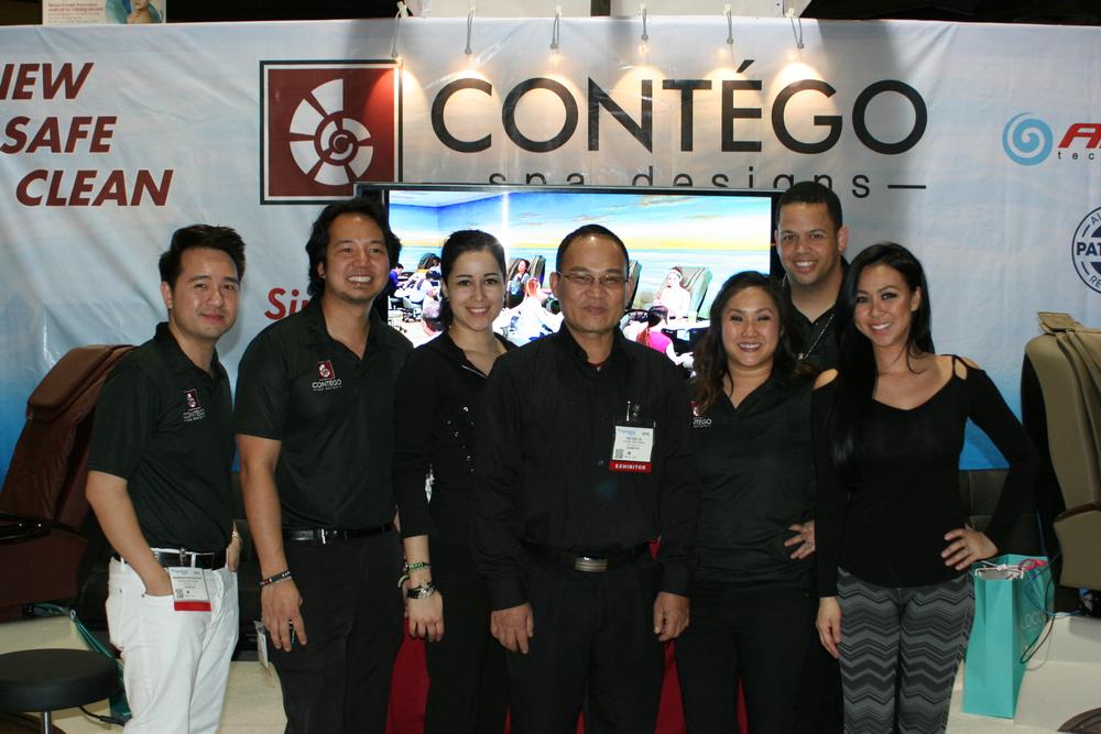 <p>Contego Nail Spa's Brandon Thanh Phuc, Jeff Ta, Christina Aviles, Peter Ta, Thuy Le, Daniel Jeffrey, and Lindsey Ta</p>