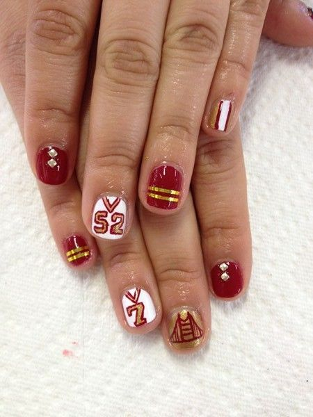 <p>Jersey nail art by&nbsp;Parris Hodges &amp; Kiri Jones, Pams &amp; Kin, San Francisco</p>