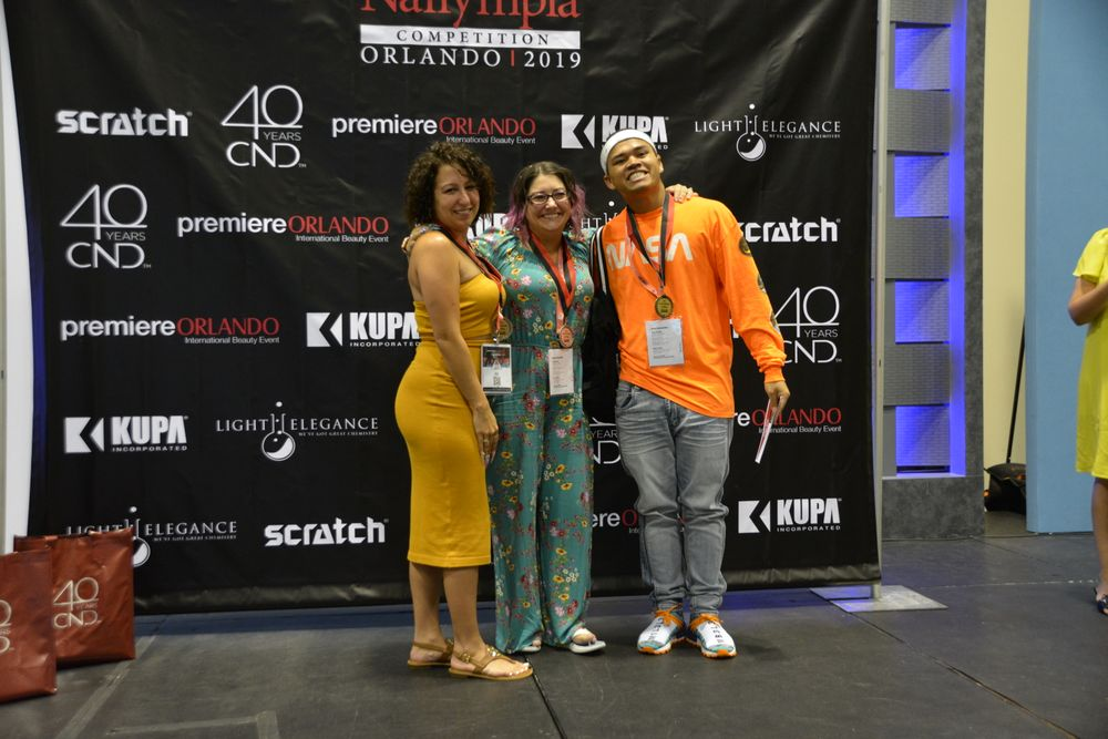 <p>Joy of Nails With Bling, Division 1 winners: Leon Sokreaksarmie Touch (1st), Megan Sainz (2nd), Jennifer Lynn Szarbo (3rd)</p>