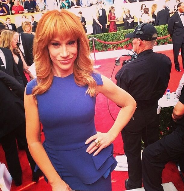 "<p>Kathy Griffin admitted she didn't get a manicure prior to the SAG Awards, bringing new meaning to the term ""au naturale."" Image via @sagawards.</p>"