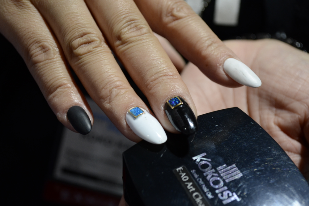 <p>Nails by Koko Kashiwagi of Kokoist.</p>
