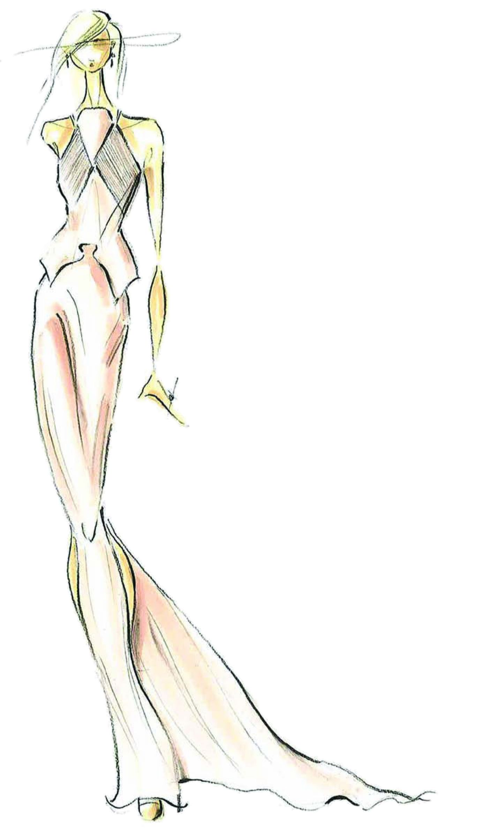 <p><strong>Linen</strong> is light and airy, providing a nude-like basic that is a must have for spring. <em>Illustration by Pamella Roland by Pamella DeVos. Originally appeared in The Pantone Fashion Color Report Spring 2013.</em></p>