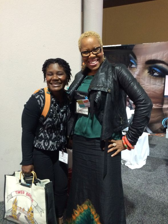 <p>Salon owner and friend of NAILS Maisie Dunbar (right) always stops by to catch up.</p>