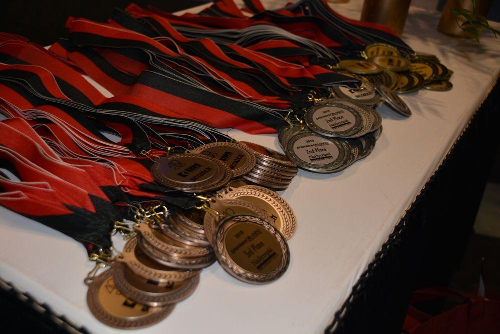 <p>Nailympia medals</p>