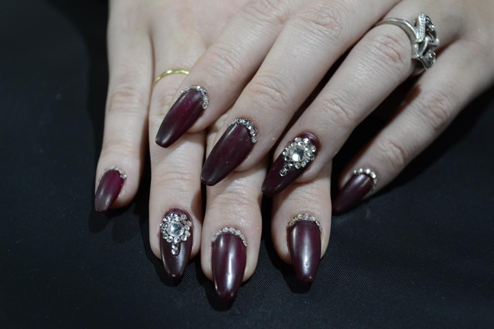 <p>Nails by Melanie Visser of Bio Sculpture Gel.</p>