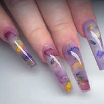 Trendy Milk Bath Nail Art