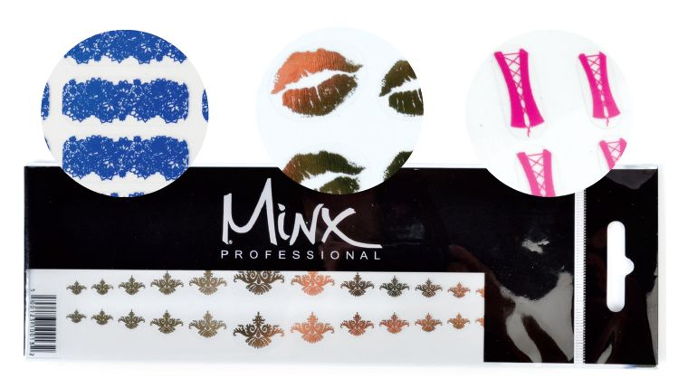 """<p class=""""sidebar-WhitneyBASICTEXT"""">Minx Underwear, <span style=""""font-family: Times New Roman;"""">featuring a handful of flirtatious designs, are thinner and smaller than full-coverage Minx. For original nail art creations, the embellishments can be mixed and matched. Minx Underwear works with anything from gel-polish to acrylics, lasting as long as the selected medium. <br /><a href=""""http://www.minxnails.com"""">www.minxnails.com</a></span></p> <p><span style=""""color: #000000; font-family: Calibri; font-size: medium;"""">&nbsp;</span></p>"""