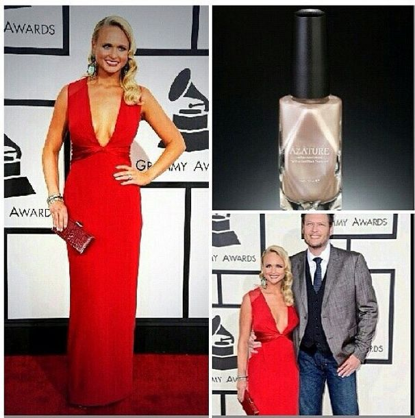 <p>Barbara Warner gave Miranda Lambert some Grammy-ready sparkle with Azature's Shine Bright Like a Diamaond.</p>