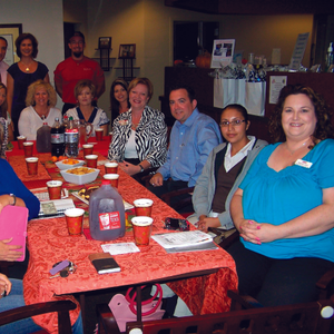 Here I am (far right) at a networking event at Spa Neo.
