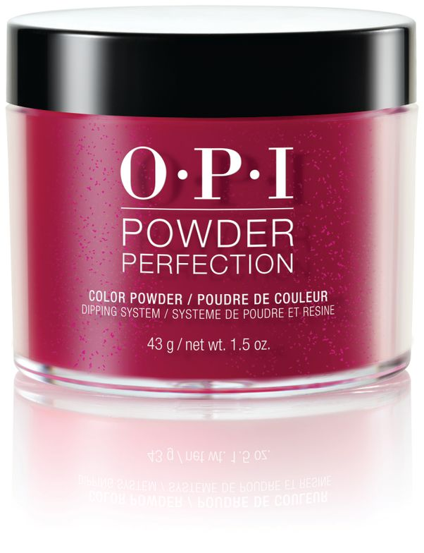 "<p>OPI's Powder Perfection allows for easier, faster, and odor-free application of an acrylic overlay to natural nails. Combined with OPI colors, clients can enjoy the versatility of acrylics with weeks of wear, and gel-like shine without the need to light cure. Powder Perfection is easily removed with soak-off wraps, eliminating damaging file removal. The system includes powders in 29 classic OPI colors such as I'm Not Really a Waitress, Bubble Bath, Big Apple Red, Cajun Shrimp, Pink Flamenco, and Alpine Snow, matched to OPI Nail Lacquer and GelColor offerings.<br /><a href=""http://www.opi.com"">www.opi.com</a></p>"