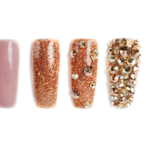 Nail Art Studio: Golden Glitter Glam