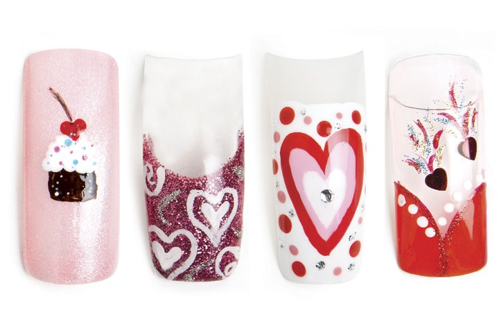 Valentine's Nail Art in the Blink of an Eye