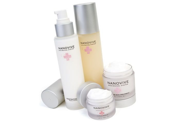 """<p><a href=""""http://www.entitybeauty.com"""">Entity&rsquo;s</a> Nanovive Skin Revival System Kit contains four products in the Nanovive System. They are a Penetrating Lotion, Cuticle Rescue, Glycolic Exfoliating Serum, and Intense Skin Treatment. Each uses nanotechnology to penetrate deep beneath the skin&rsquo;s surface to deliver nourishment at the cellular level.</p>"""