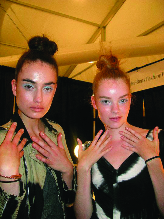 <p>To create a clean, modern look at the Adam show, <strong>Deborah Lippmann</strong> used Naked (available in Spring 2011), a true fresh-toned nude from her eponymous polish line.</p>