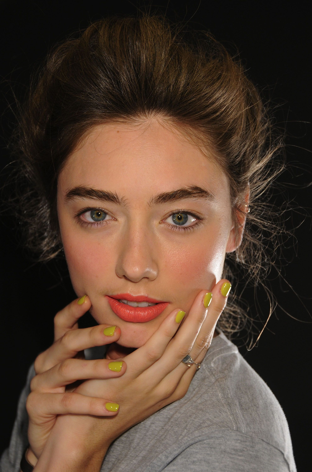 <p>At the Karen Walker show, nail tech Wanda Ruiz custom blended <strong>CND </strong>Bicycle Yellow with seven drops of Blackjack for a summery, youthful shade.</p> <p><em>Photo courtesy of Creative Nail Design (CND)</em></p>