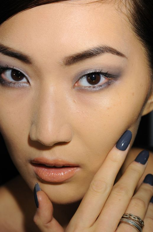 <p>At the Naeem Khan show, Wanda Ruiz used two coats of saturated, concrete gray <strong>CND</strong> Asphalt finished with Super Shiney Top Coat for a lustrous look.</p> <p><em>Photo courtesy of Creative Nail Design (CND)</em></p>