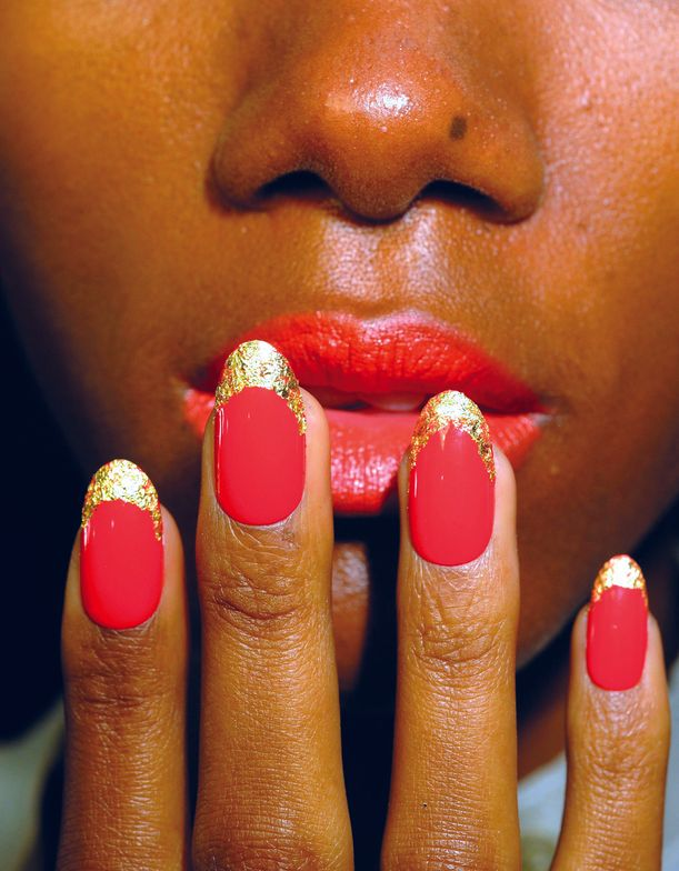 <p>At the Norman Ambrose show, <strong>CND</strong>&rsquo;s Candice Manacchio created six luxe manicure looks to go with high glam &rsquo;60s pieces straight out of vintage Vogue &mdash;&nbsp; for the sexy, exotic woman who swims in her diamonds.</p> <p><em>Photo courtesy of Creative Nail Design (CND)</em></p>
