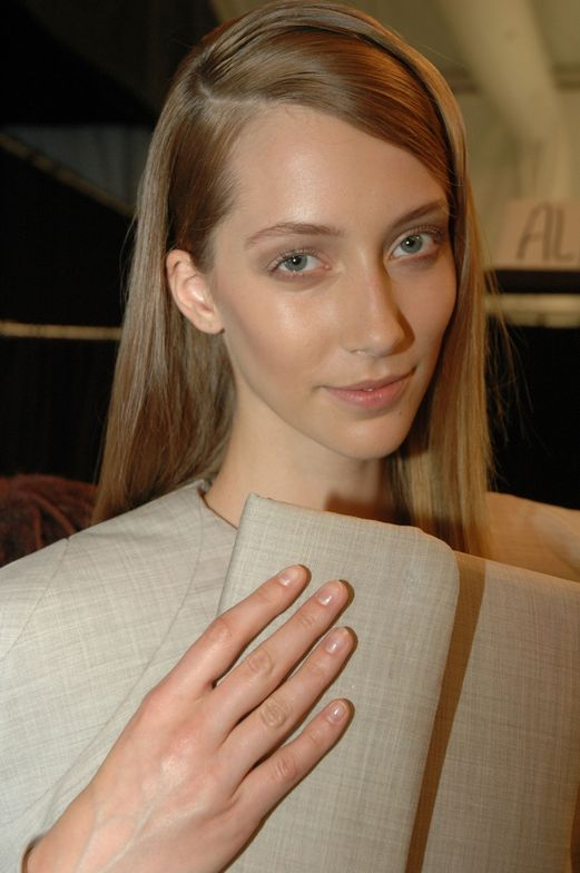 <p>Six students from the Academy of Art University in San Francisco debuted their collections at the AAU show.&nbsp;In order to create a consistent, complementary look, Pattie Yankee and the <strong>Dashing Diva</strong> team kept a clean, short, polished buff nail.</p>