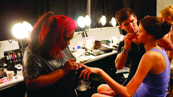 <p>Celebrity nail artist Honey polished models&rsquo; nails with <strong>LAQA &amp; Co</strong>.&rsquo;s polish pen in color WTF for the Rafael Cennamo show.</p>