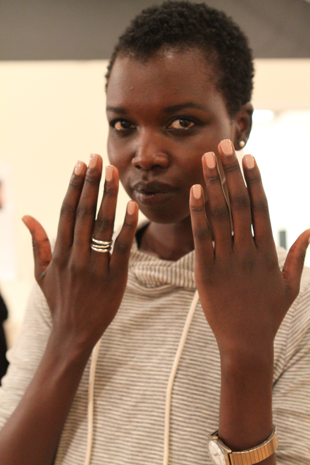 <p>At the B Michael America show, Amber Elizabeth Stores for<strong> Zoya</strong> used Zoya Minka (shown), Shay, and Pandora to coordinate with the models&rsquo; skin tones.</p>