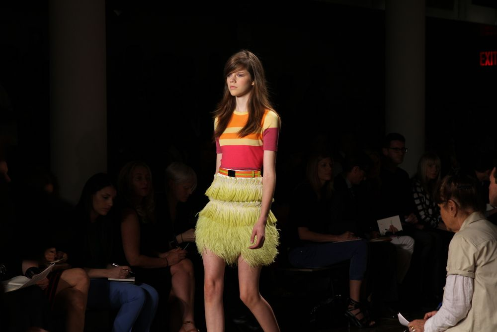 <p>For Peter Som, Sunshine Outing for <strong>Zoya</strong> polished models&rsquo; nails in Erin.</p>