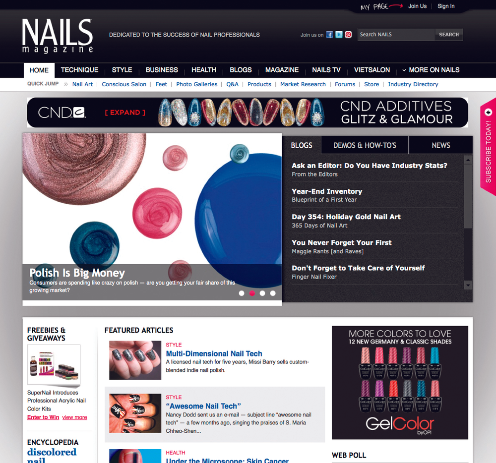 <p><strong>2008</strong>: NAILS redesigns website, which later wins a Maggie Award for Best Website/Trade.</p>