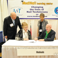 Pictured (left to right) are Norman Wallis, executive director, ACFAOM, Kathleen Satterfield,...