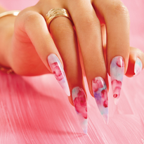 Behind the Scenes: Acrylic Watercolor Floral Nails
